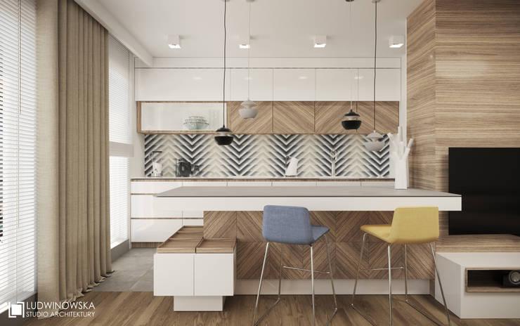 مطبخ تنفيذ Ludwinowska Studio Architektury