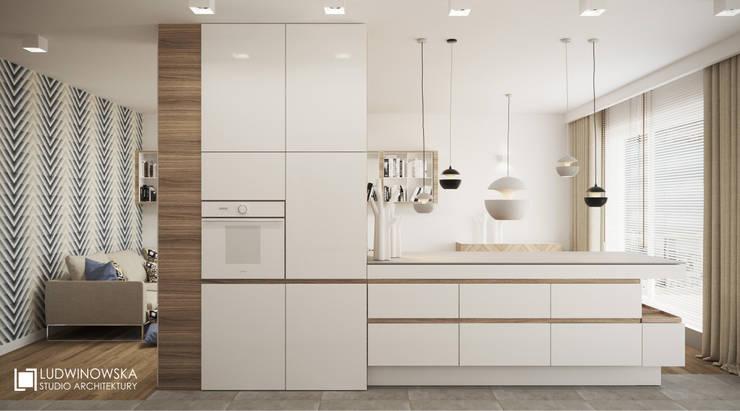 MAKALU: styl , w kategorii Kuchnia zaprojektowany przez Ludwinowska Studio Architektury