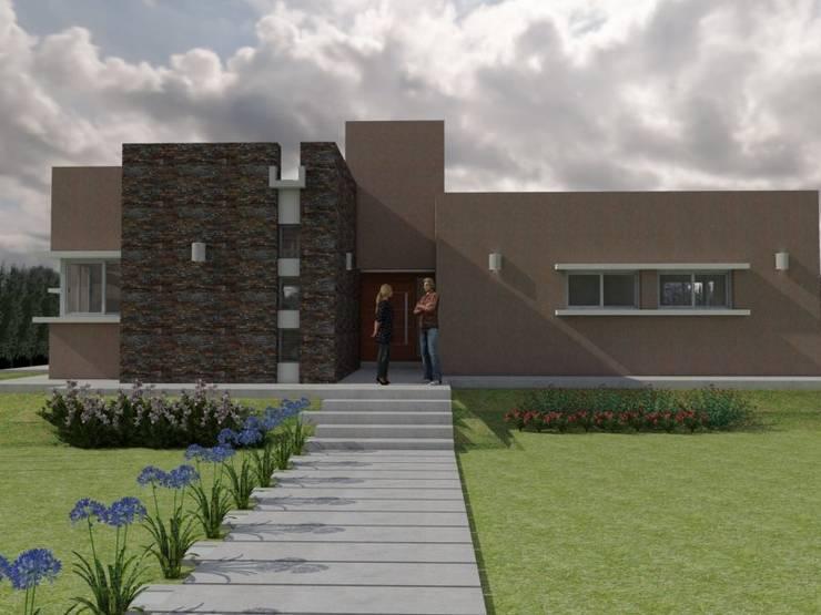 Fachada Principal: Casas de estilo  por Gastón Blanco Arquitecto,