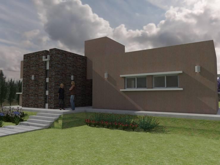 Vista de Acceso: Casas de estilo  por Gastón Blanco Arquitecto,