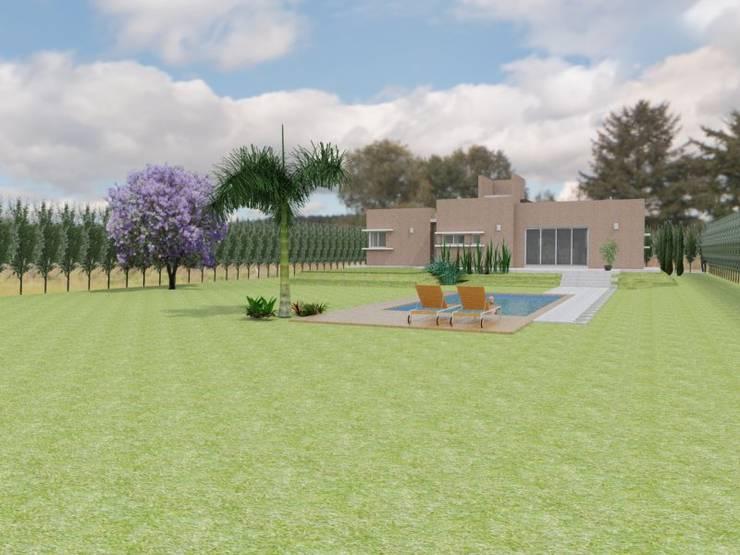 Jardín: Casas de estilo  por Gastón Blanco Arquitecto,