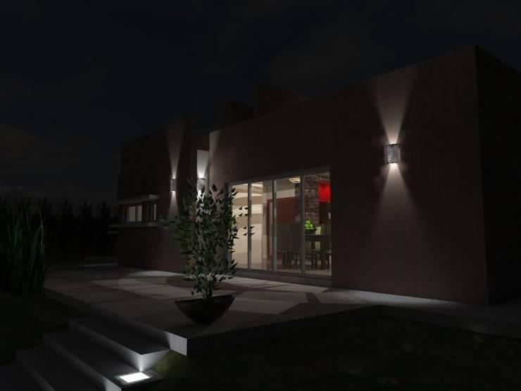 Espacio de expansión de noche: Casas de estilo  por Gastón Blanco Arquitecto,