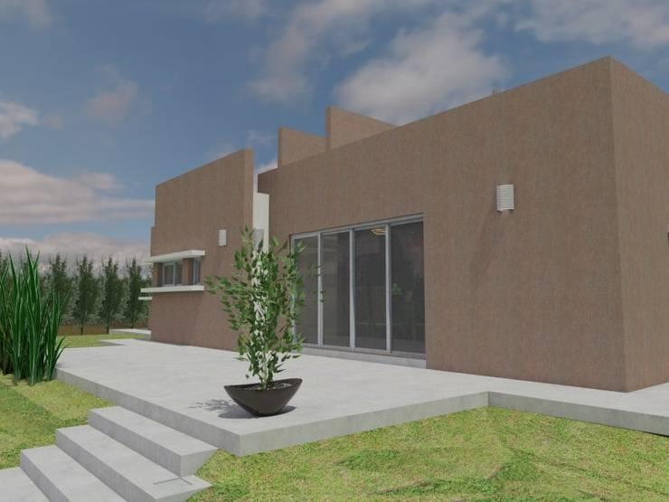 Espacio de expansión : Casas de estilo  por Gastón Blanco Arquitecto,