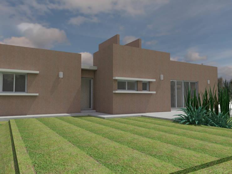 Fachada Norte: Casas de estilo  por Gastón Blanco Arquitecto,
