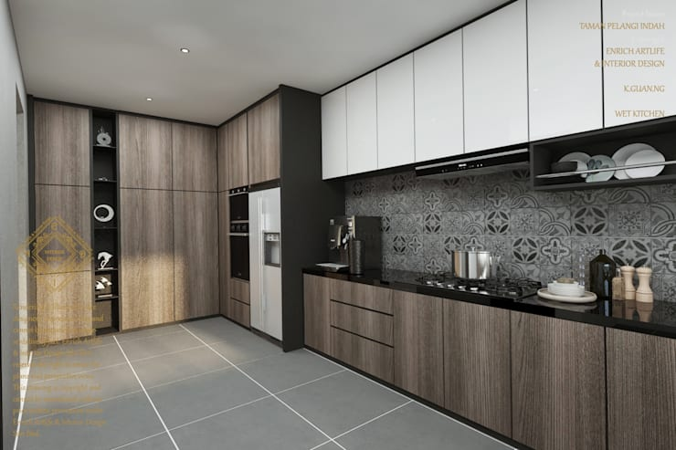 Kitchen:  Kitchen by Enrich Artlife & Interior Design Sdn Bhd, Modern