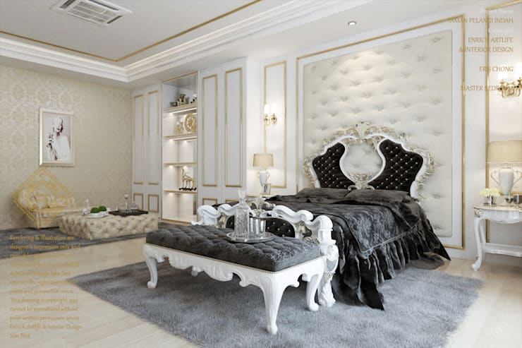 European style bedroom:  Bedroom by Enrich Artlife & Interior Design Sdn Bhd, Modern