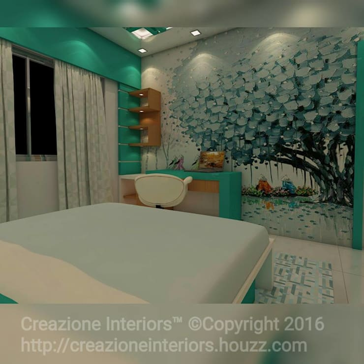 :  Bedroom by Creazione Interiors
