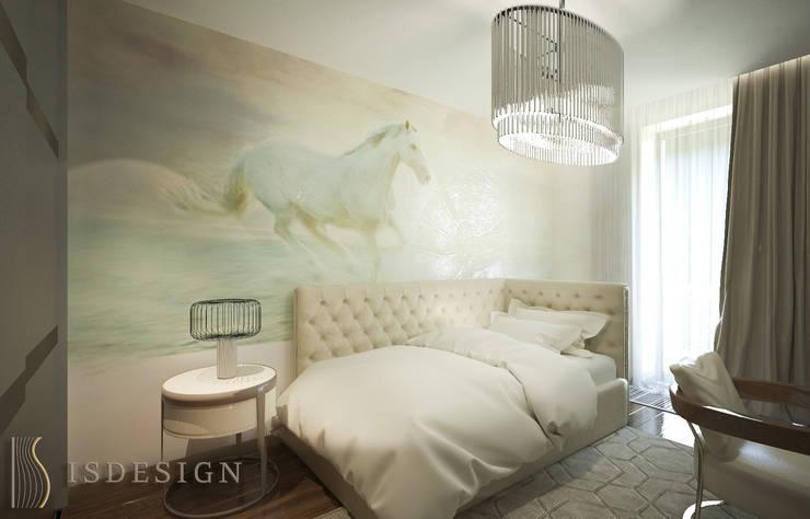 Спаальная комната девочки подростка: Спальни в . Автор – ISDesign group s.r.o., Эклектичный
