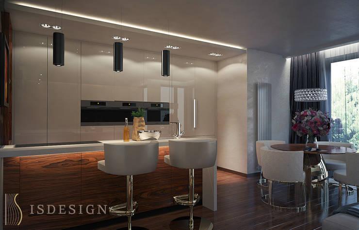 Гостиная - зона кухни: Гостиная в . Автор – ISDesign group s.r.o., Эклектичный Мрамор