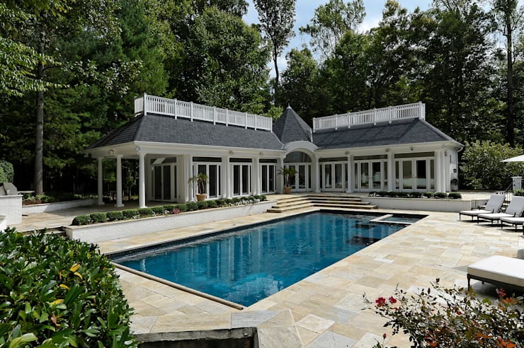 Purchase Consultation and Whole House Renovation in Potomac, Maryland:  Pool by BOWA - Design Build Experts