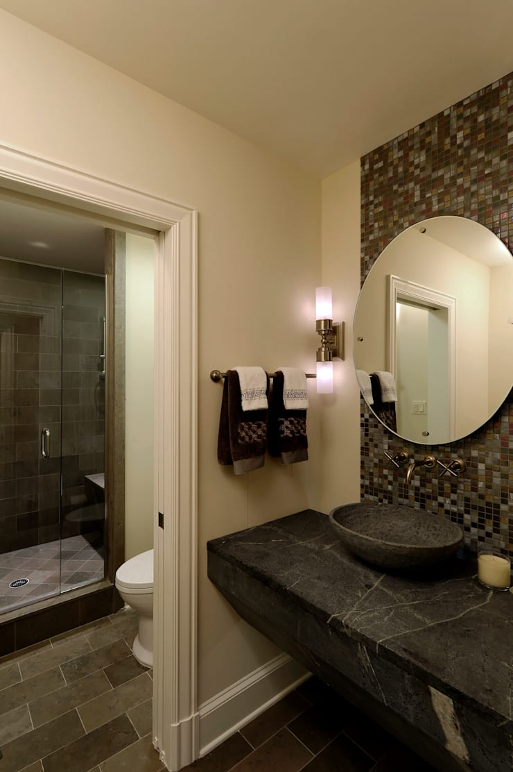 Purchase Consultation and Whole House Renovation in Potomac, Maryland:  Bathroom by BOWA - Design Build Experts