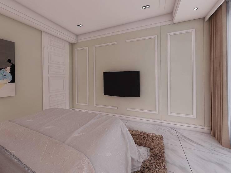 臥室2電視牆:   by 木皆空間設計