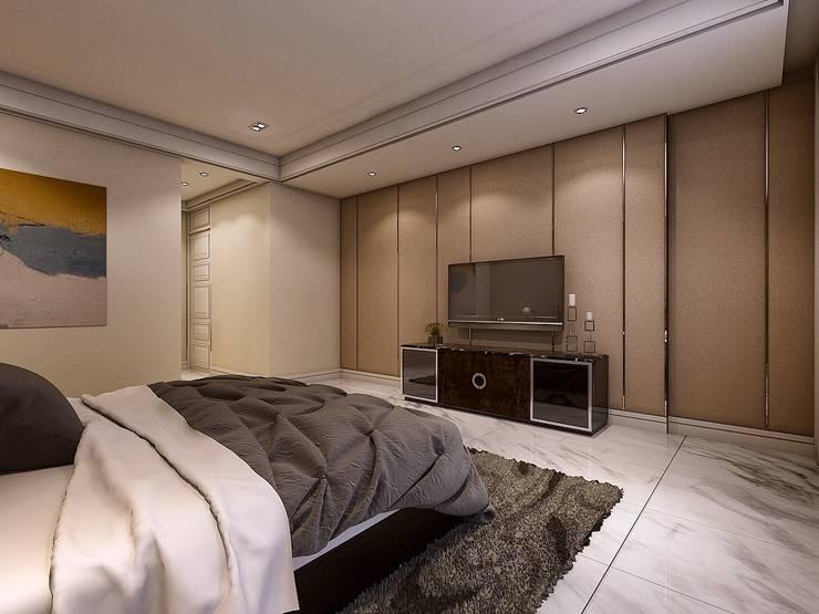 臥室3電視牆:   by 木皆空間設計