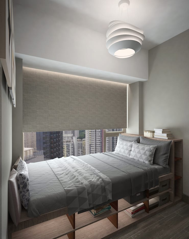 Cadogan | Kennedy Town | Hong Kong: modern Bedroom by Nelson W Design