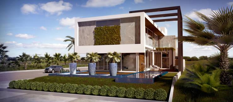 casa contemporânea Jurerê Internacional: Casas  por studio vert arquitetura