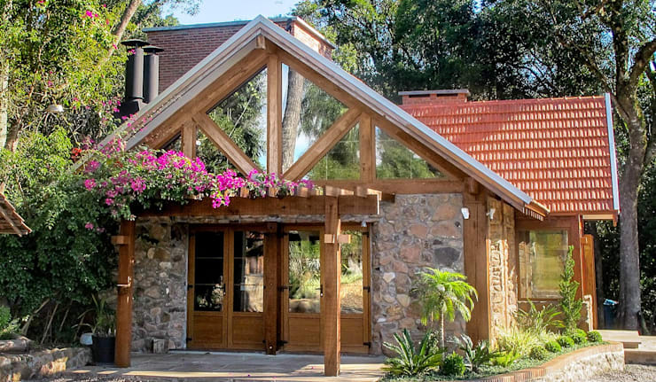 19 casas r sticas para cuando tengas un terrenito for Fachadas de cabanas rusticas