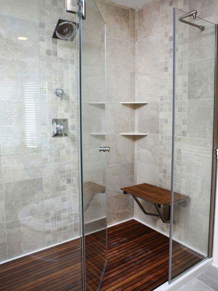 División de baño:  de estilo  por Decoracion & Arquitectura interior Km, Moderno Vidrio