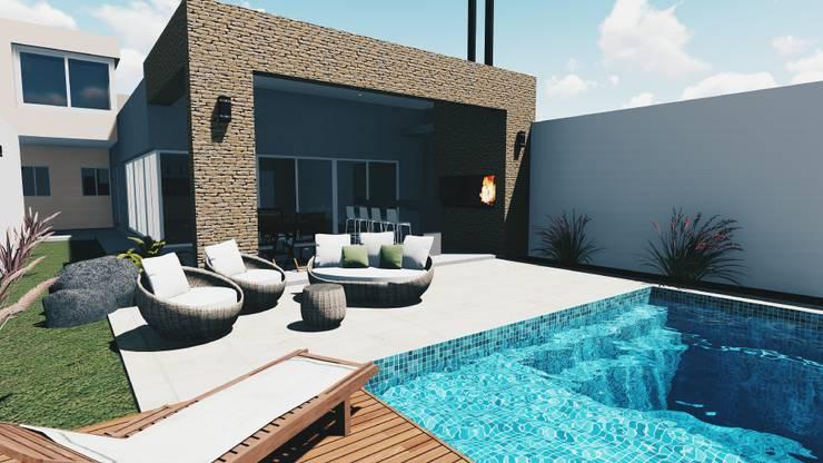 Casa G: Piletas de estilo  por Silene Paredes Jara
