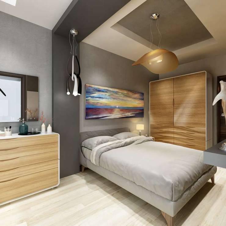 VERO CONCEPT MİMARLIK – Villa Fenerburnu - Çeşme: modern tarz Yatak Odası
