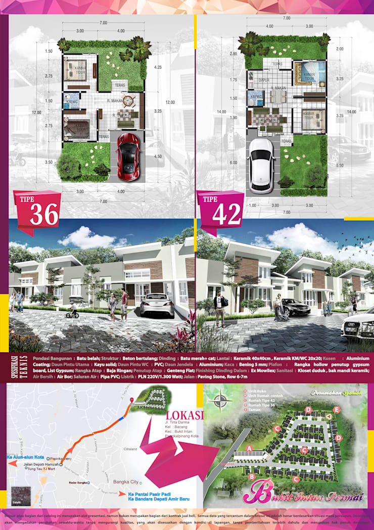 Perumahan Bukit Intan Permai :   by bplusarsitektur