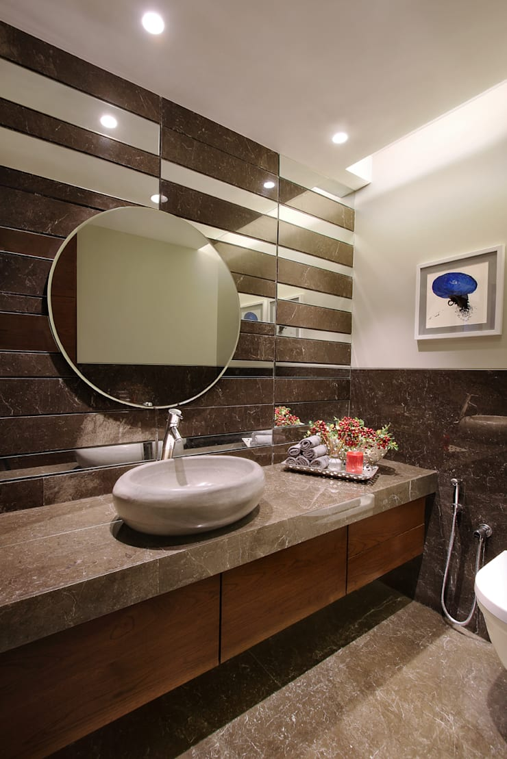 Modern style bathrooms by USINE STUDIO Modern