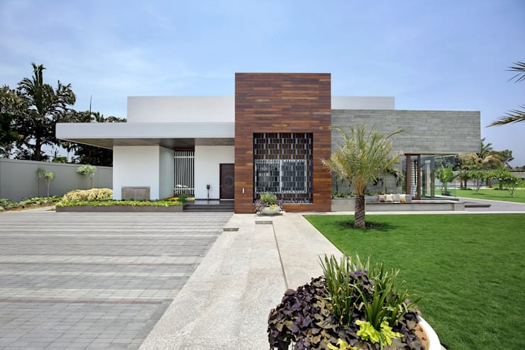 shree bungalow:  Houses by USINE STUDIO,Modern