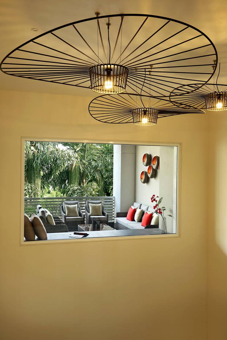 shree bungalow:  Terrace by USINE STUDIO,Modern