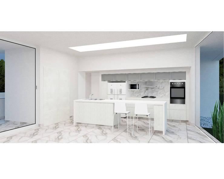 Casa YP: Cocinas de estilo  por MCA - Estudio de Arquitectura,