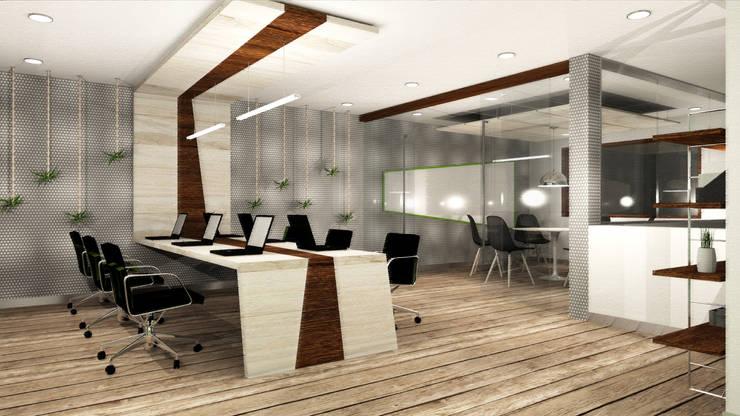 Zona Coworking: Oficinas y Tiendas de estilo  por Priscila Meza Marrero,