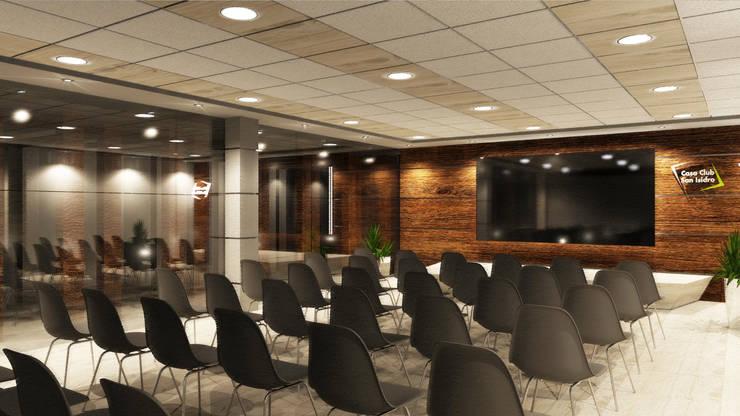 Sala de Usos Múltiples: Oficinas y Tiendas de estilo  por Priscila Meza Marrero,