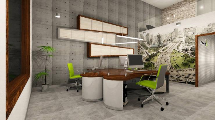 Oficina típica: Oficinas y Tiendas de estilo  por Priscila Meza Marrero
