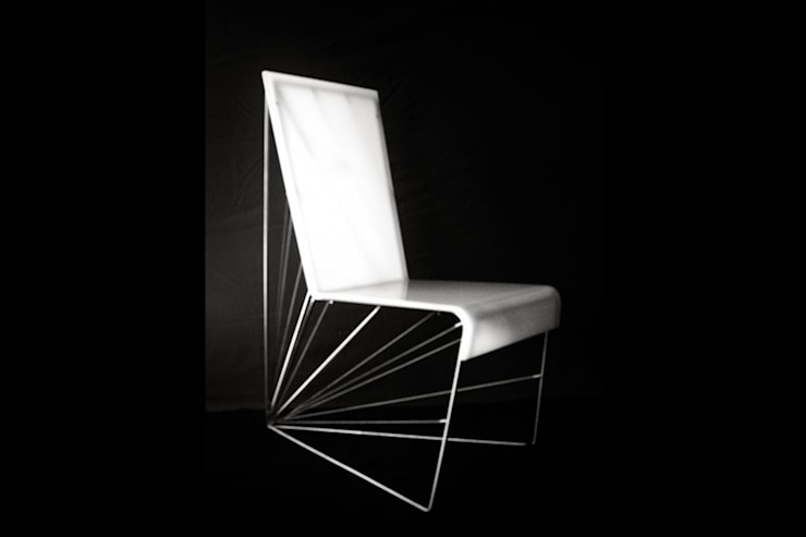 Silla Axis: Salas/Recibidores de estilo  por Priscila Meza Marrero,