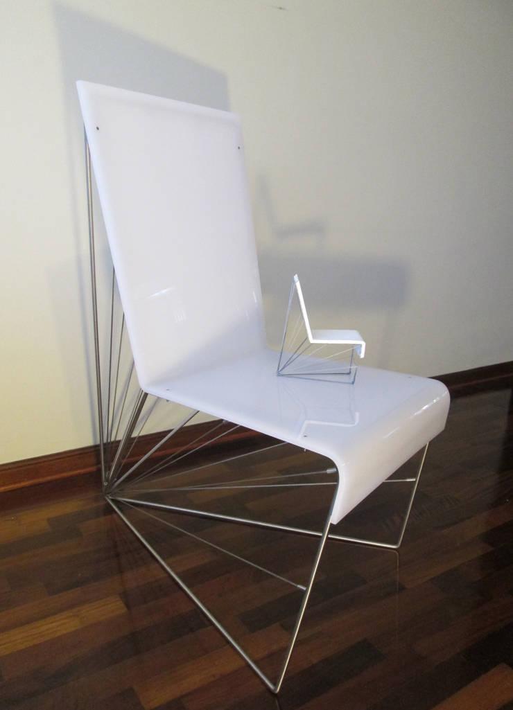 Silla Axis - Maqueta y Prototipo a escala real: Salas/Recibidores de estilo  por Priscila Meza Marrero,