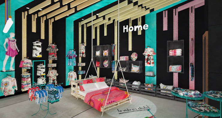 Zona Home: Espacios comerciales de estilo  por Priscila Meza Marrero