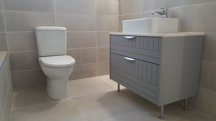 Custom Made Bathroom Cabinets:  Bathroom by Cape Kitchen Designs