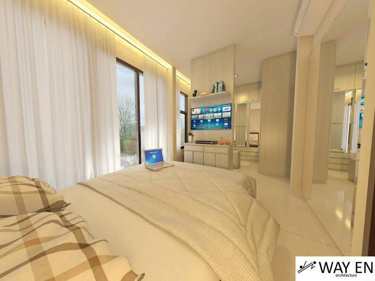 Kamar Tidur Utama:  Bedroom by Way En Architecture