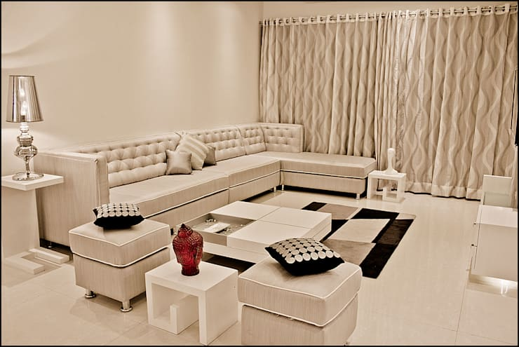 La tierra,Pune: modern Living room by H interior Design
