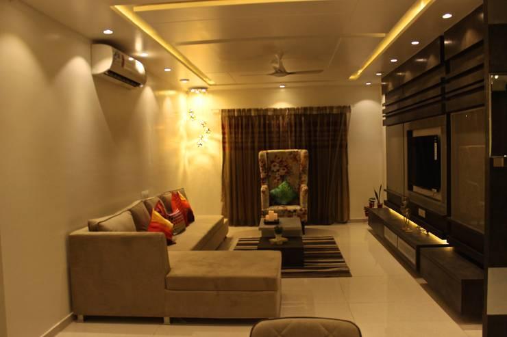 Mystic Moods,Pune: modern Living room by H interior Design
