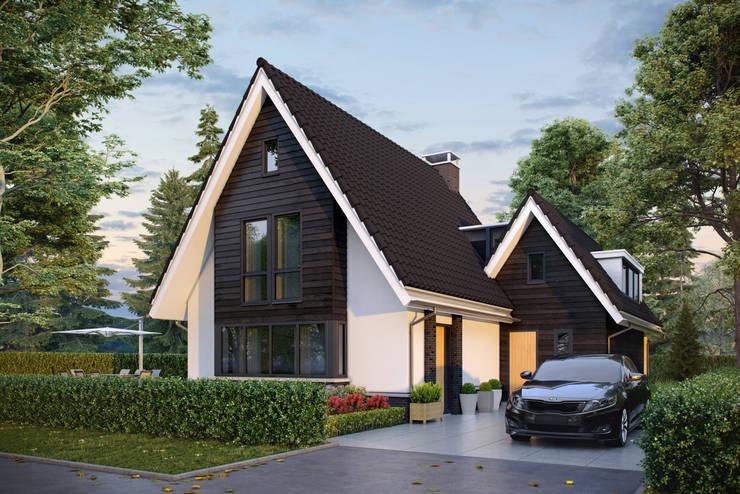 Nieuwbouw woning Boskoop:  Huizen door Bongers Architecten, Landelijk