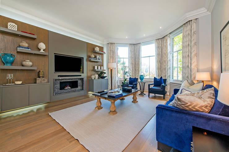 Drayton Gardens:  Living room by Maxmar Construction LTD
