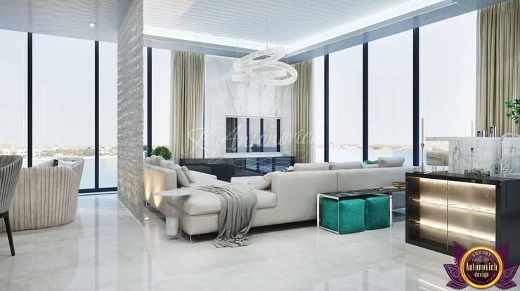 Luxury and comfort from Katrina Antonovich:  Living room by Luxury Antonovich Design, Modern