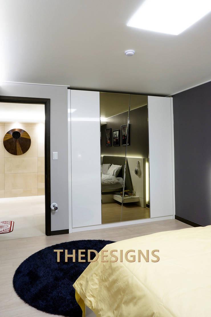 남양주 부영아파트: thedesigns의  침실