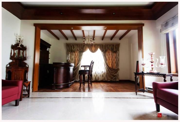 Rahaman's residence:  Living room by Sandarbh Design Studio,Classic Plywood
