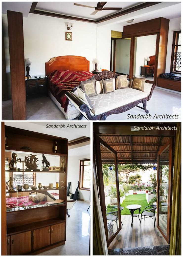 Rahaman's residence:  Bedroom by Sandarbh Design Studio,Eclectic