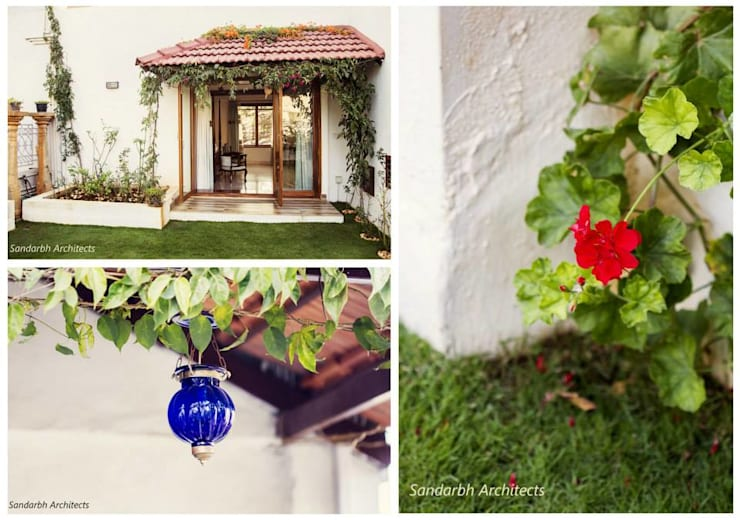 Rahaman's residence:  Garden by Sandarbh Design Studio