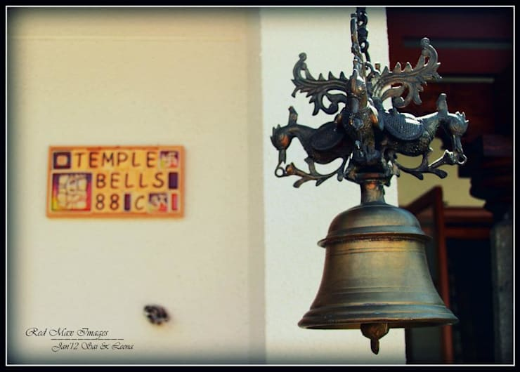 Temple Bells - Arati and Sundaresh's Residence:  Artwork by Sandarbh Design Studio