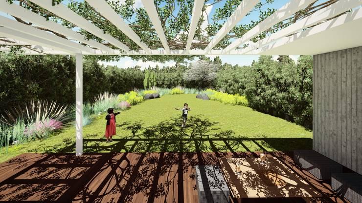 Patio/Galería: Jardines con piedras de estilo  por Quinta Fachada