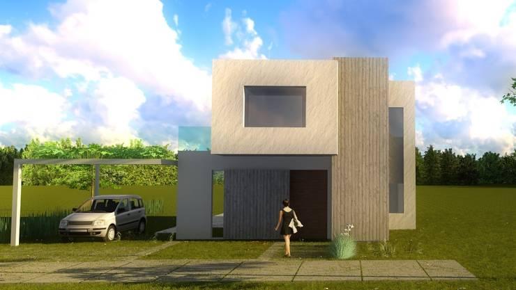 Fachada: Casas unifamiliares de estilo  por Quinta Fachada,