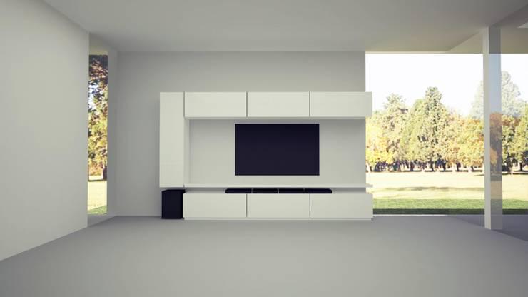 diseño mueble living: Livings de estilo  por MARIA NIGRO ARQUITECTA,