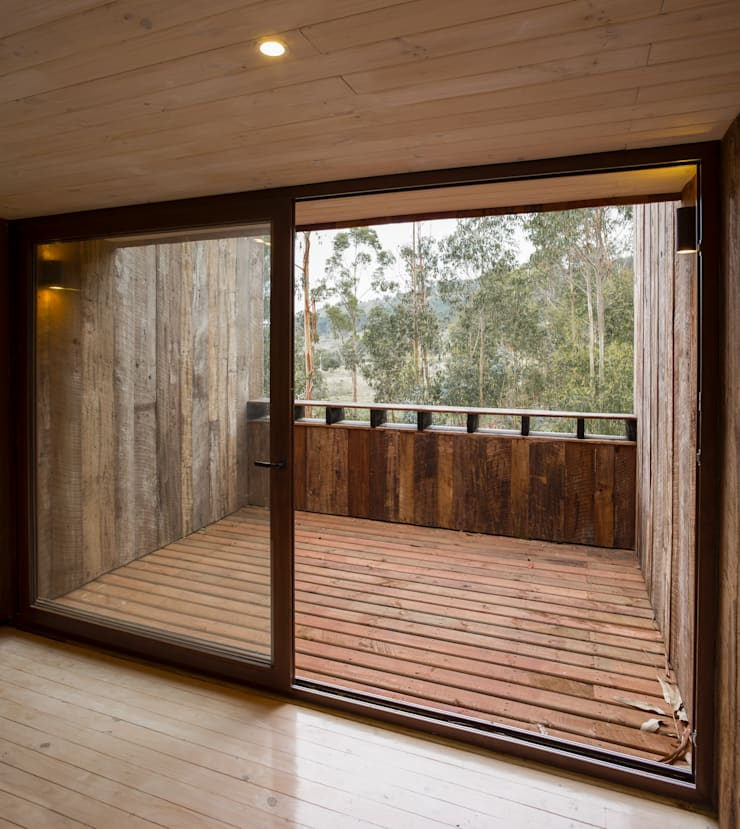 Cabaña Tunquen: Chalets de estilo  por Dx Arquitectos